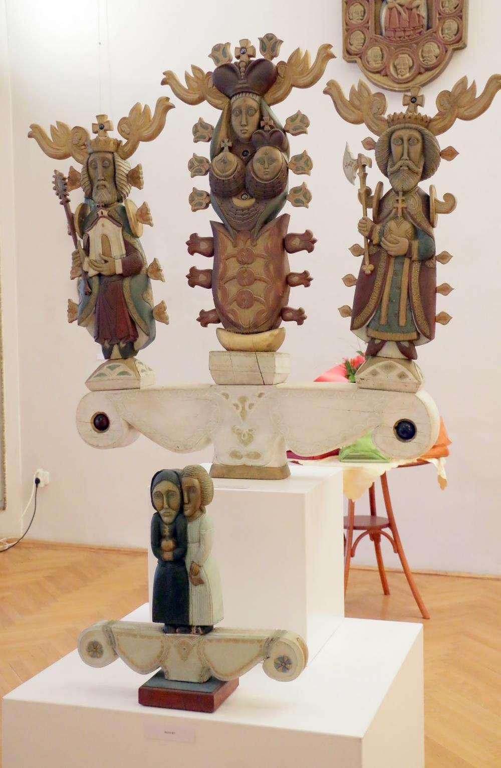 A CSENDBŐL ÉLNI - Blaskó Sándor szobrászművész kiállítása