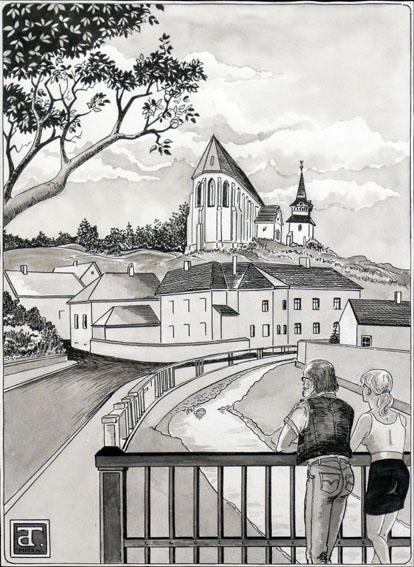 """""""MÚLT ÉS JELEN"""" - Tenky Dezső grafikus kiállítása"""