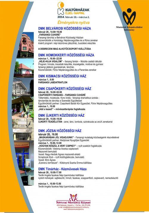 Kultúrházak éjjel-nappal 2014