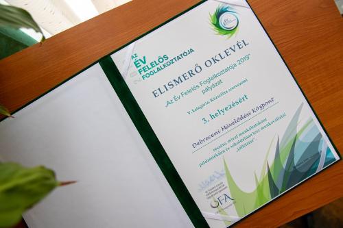 Ismét díjazták a Debreceni Művelődési Központot!