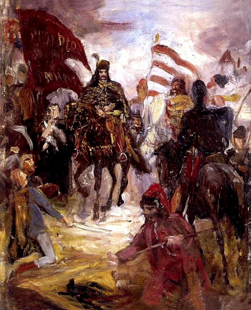 """II. RÁKÓCZI FERENC EMLÉKEI NYOMÁBAN, SZÜLETÉSÉTŐL HALÁLÁIG: Greguss Imre """"Rákóczi lovon"""" című olajfestménye"""