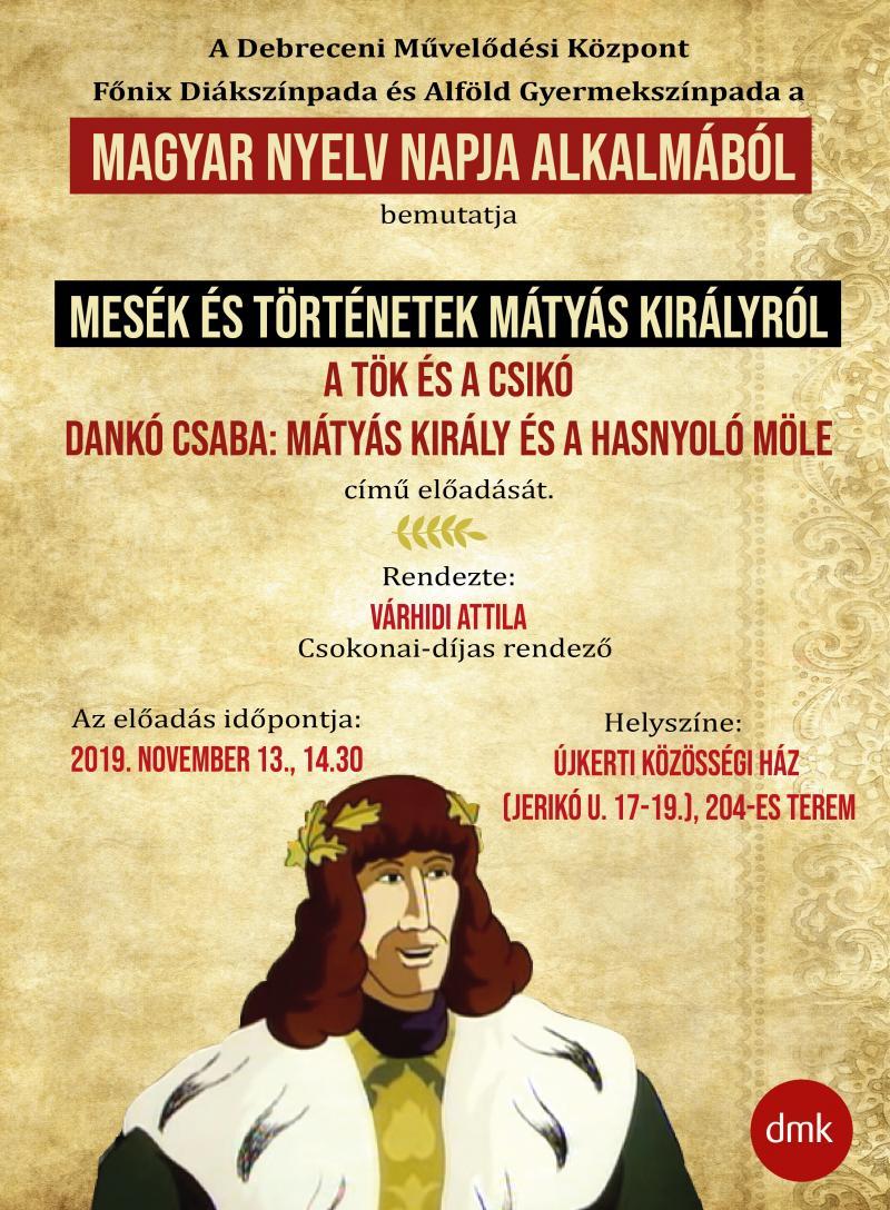 A MAGYAR NYELV NAPJA AZ ÚJKERTI KÖZÖSSÉGI HÁZBAN: Az esemény hivatalos plakátja