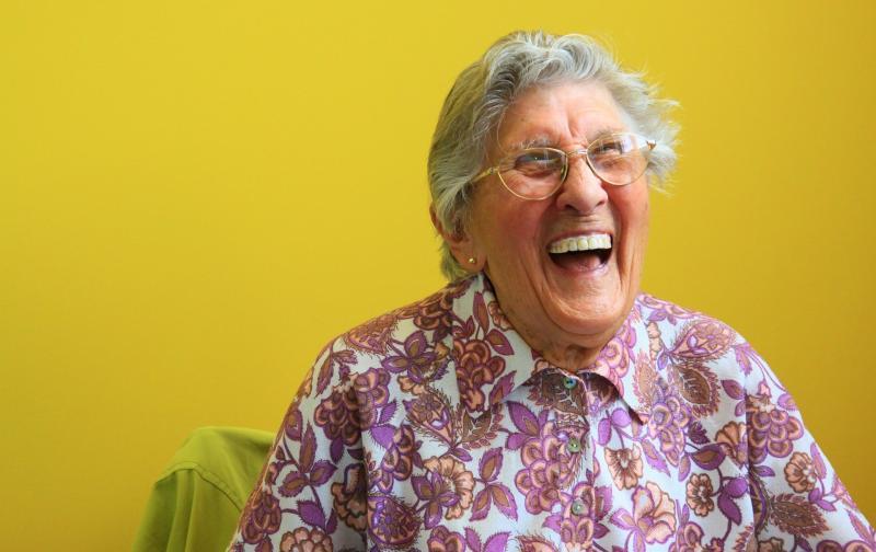 NYUGDÍJAS KLUB: Illusztratív fotó egy idős hölgyről