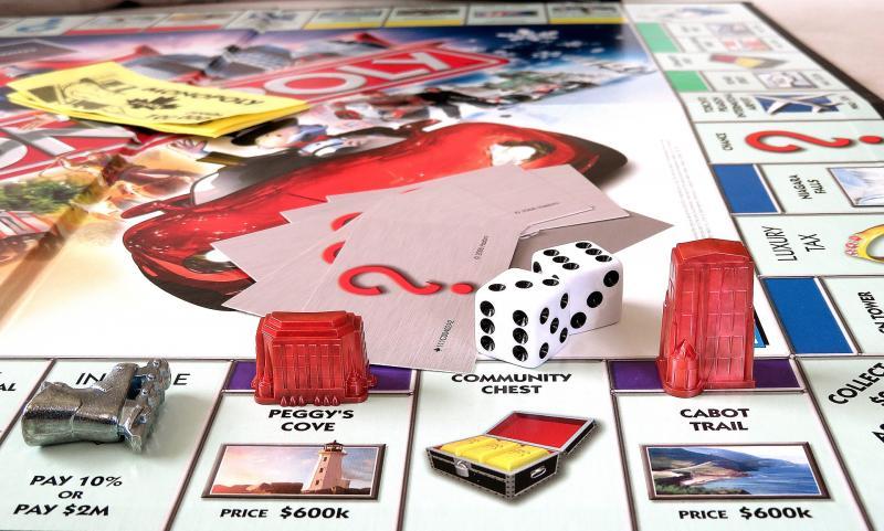 BAGOLY KLUB: Illusztratív fotó egy Monopoly tábláról.