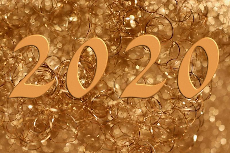 """PÓTSZILVESZTERI MULATSÁG: """"2020""""-as feliratot ábrázoló illusztratív fotó"""