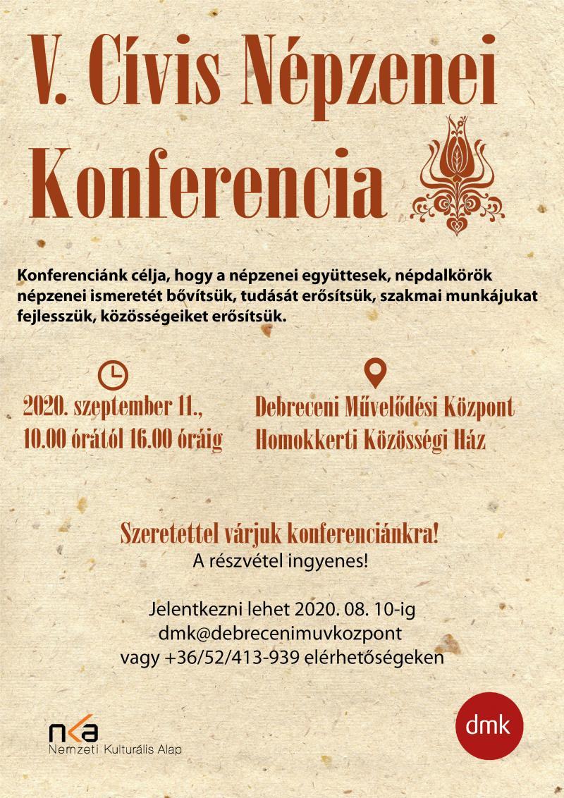 V. Cívis Népzenei Konferencia